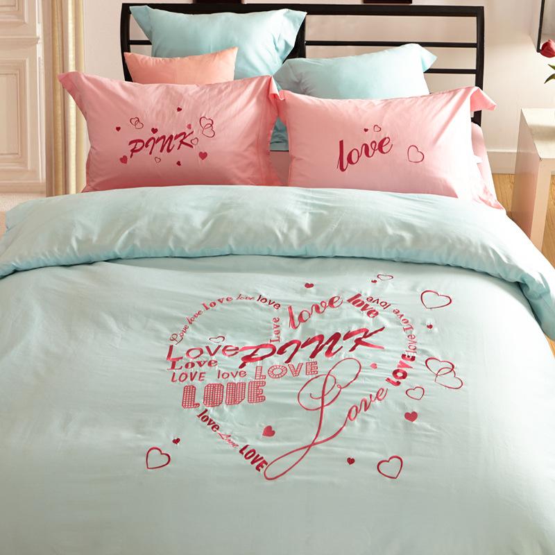 Vs Secret Pink Bedding Set Love Design 100 Cotton Duvet