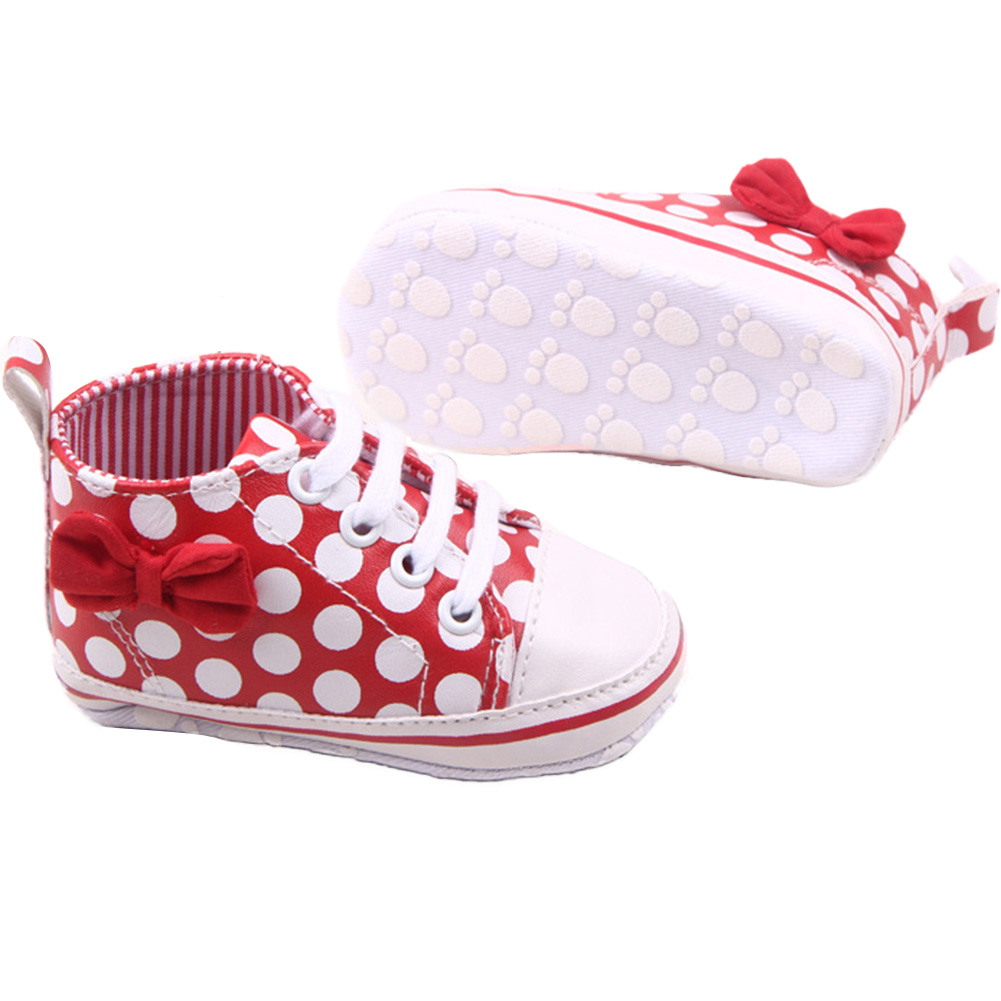New Girl Slip-On Sneaker Toddler Kid Comfy Polka Dots Pu Leather Baby Shoes Hot Free Shipping<br><br>Aliexpress