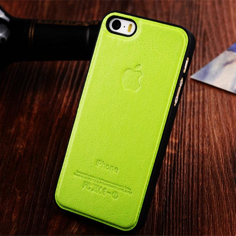 mobile Phones & Accessories Bags Cases For apple original logo iphone 5 5s Genuine Leather + plastic cover Capas para Celulares(China (Mainland))