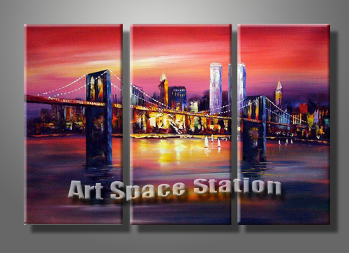 Canvas prints new york bridge chinese goods catalog for Art and craft store in brooklyn ny