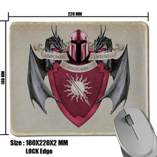 Ice and fire coat of arms game of thrones house martell sigil heroes mouse pad Mat Large Gaming Durable Non Slip PC Mouse Pad(China (Mainland))
