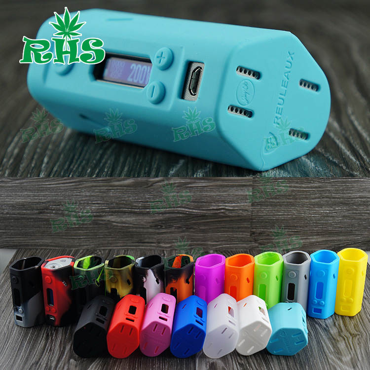 5pcs Reuleaux RX200 TC VW Box Mod Protective Sleeve Wismec Evolv DNA 200 Mod Silicone Case/Cover/Skin/Wrap Cover Free Shipping(China (Mainland))