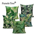 Fashion High Quality Cotton Linen Africa Tropical Plant Banana Leaf Decorative Throw Pillow Case Cushion Cover