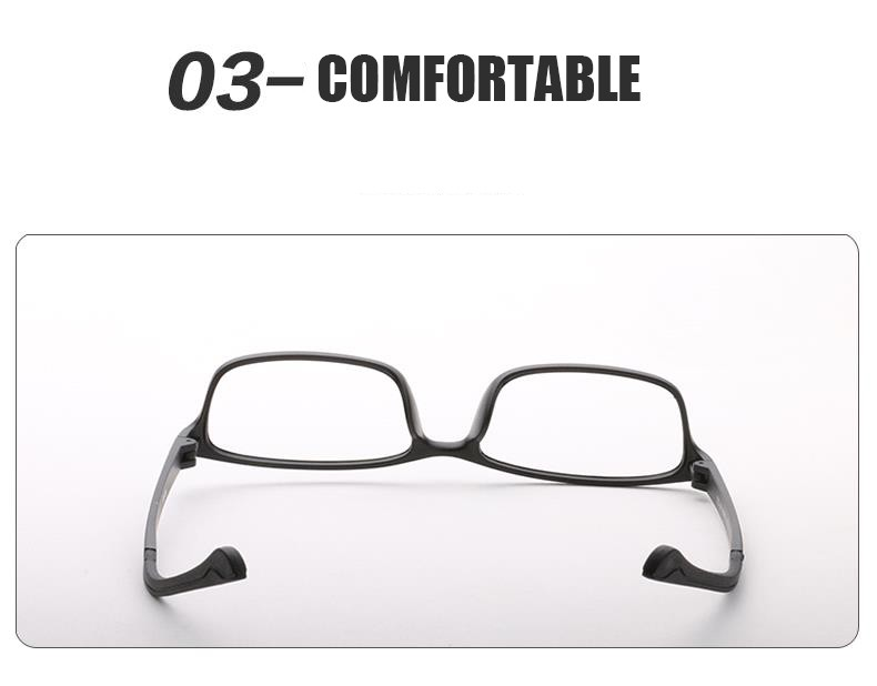 Men's Glasses Practical Shauna Carbon Fiber Decoration Tr90 Eyeglasses Prescription Frame Men Resin Lens Ultralight Square Optical Glasses Myopia Apparel Accessories