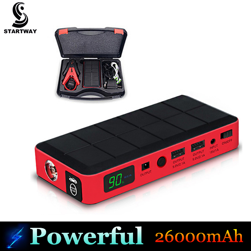 Hot Sale High Capacity 26000mAh Car Jump Starter Multi-function Mini Portable 12V Emergency Battery Charger Petrol & Diesel Car(China (Mainland))