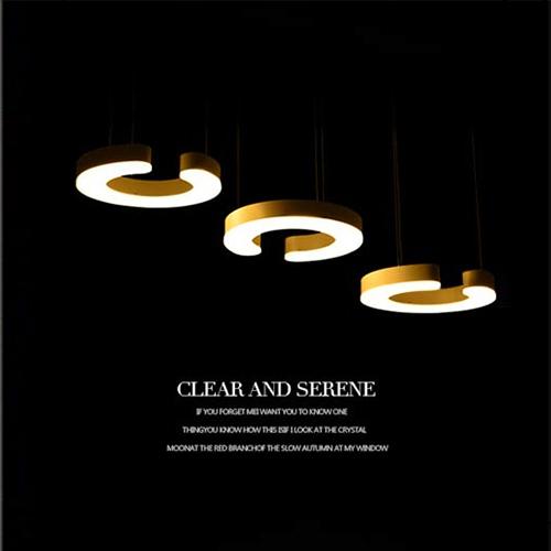 European Creative LED restaurant chandelier three ring Acrylic Art Bar table dining room pendant lamp fishing line(China (Mainland))