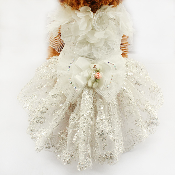 Armi store Puppy Doll Decoration Dog Dress Dogs Princess Wedding Dresses 73007 Doggie Tutu Skirt Costume Supplies XS S M L XL(China (Mainland))