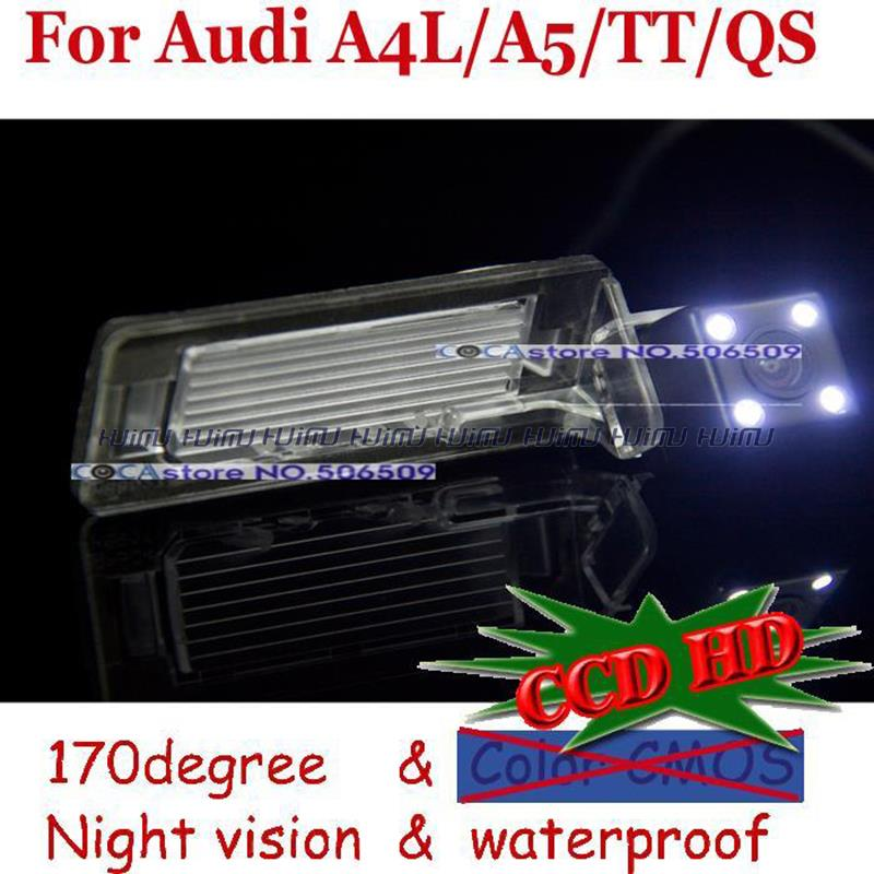 CCD with LED night vision car rear view camera for Audi 2009 to 2012 A4L TT A5 QS rear back camera <br><br>Aliexpress