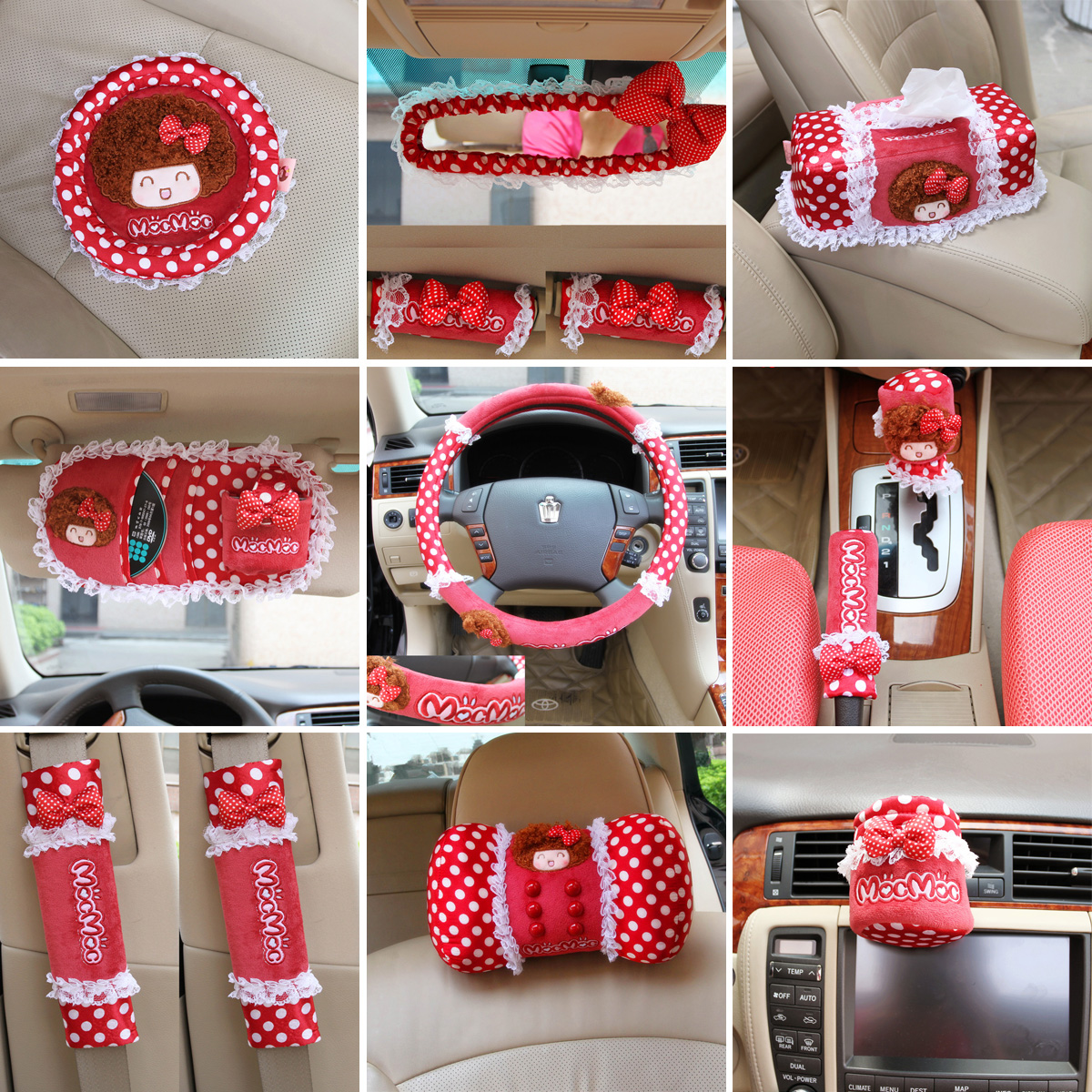 saw doll car accessories red dot supplies cartoon auto upholstery decoration set on aliexpress. Black Bedroom Furniture Sets. Home Design Ideas