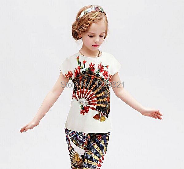 Girls T-shirts Children's T shirts 2015 Summer Style Girls Tshirt  Minions Clothes Girls Tops Brand Designer Baby T shirt  2-12Y(China (Mainland))