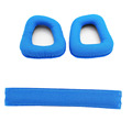 Blue Replacement Earpads Headband Cushion Pad for Logitech G930 G430 Headset