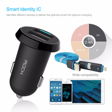 ROCK Ditor 2.4A Car-Charger For Huawei P8 Lite Honor 7 6 9 Ascend P7 P6 P9 Mate 8 7 S & Other phone USB Car Charger or 2-1 Cable