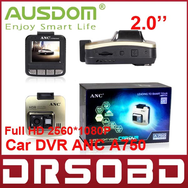Full HD 2.0 inch 2.0 inch HD TFT LCD AUSDOM ANC A750 Digital Car DVR camera 150 Degree Angle vehicle DV recorder Night Vision(China (Mainland))