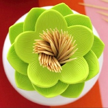 Free Shipping 1Piece Lotus Cotton Bud Holder Qualy Design(China (Mainland))