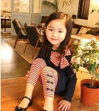 2015 New autumn children clothing suits girls clothing set child cotton sportswear set girl casual suit