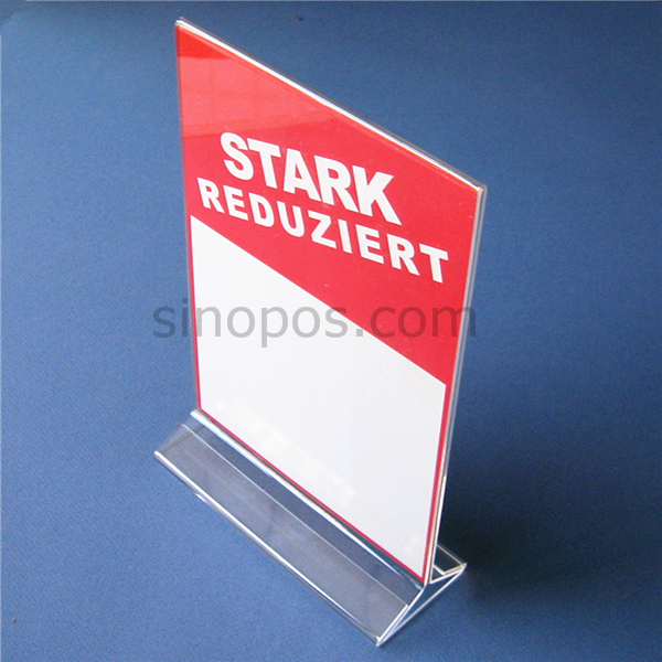 Acrylic Sign Holder, plastic poster display racks, acrylic table advertising stand information paper card tag menu holder POP(China (Mainland))
