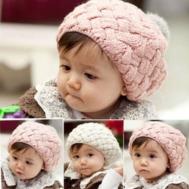 New Children Warm Winter Knitting Wool Crochet Beanie Soft Nap Kid Hat Fashion Unisex Boy Girl Hat 650595