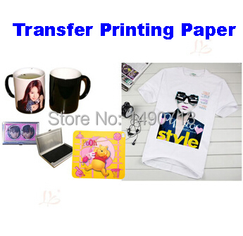 100pcs/lot! Heat Transfer Printing Paper, A4 Sublimation transfer paper 46*32*14CM(China (Mainland))