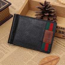 Quality Guarantee Money clip for Cash Holder solid mens wallet genuine leather wallet clips with card