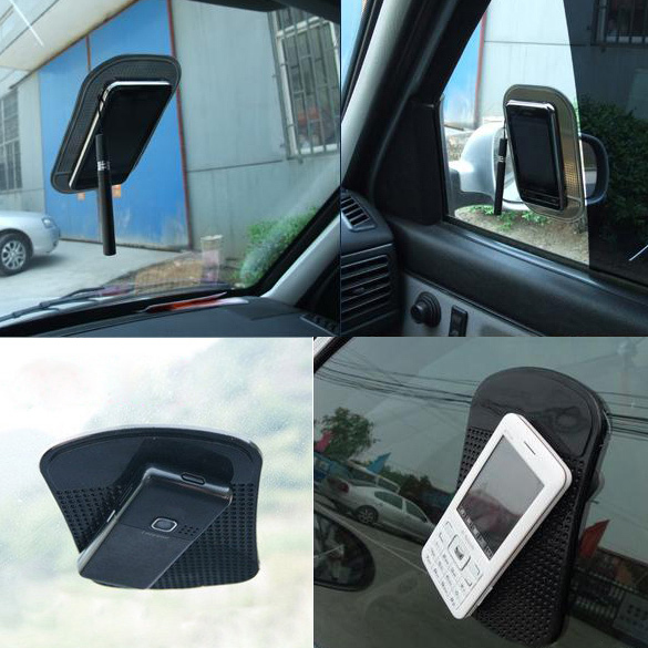 Brand Car Anti/Non-Slip Glass Dash Mat Pad iPhone 4G 4S iPod Sticky Black  -  Expectation store