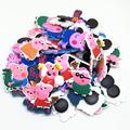 Wholesale 50pcs Random Mixed Pink Pig Shoe Decoration Shoe Charms fit Children Croc shoes Accessories Birthday