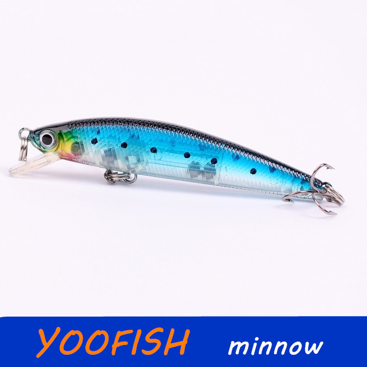 7G 8.8CM minnow sea fishing tackle lure kit hard bait fishery feeder swivel rubbler jig wobbler - mum's home store