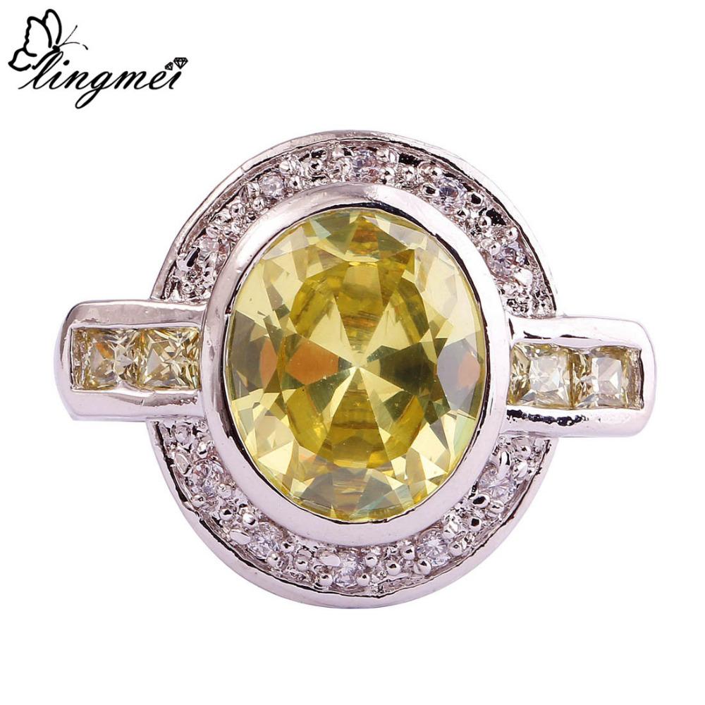 Aliexpress Buy lingmei Wholesale Top Jewelry Rings Green Amethyst Morga