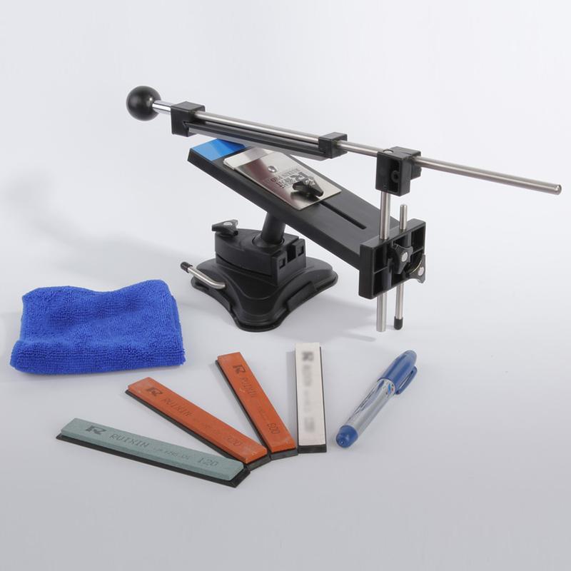 Upgraded Version Fixed-angle Knife Sharpener Professional Kitchen Knife Sharpener Kits System 4 Sharpening Stones(China (Mainland))