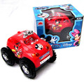 T2129 baby toys electric cars rapid dump trucks kids toy mickey dumpers puzzle toy car Children
