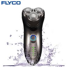 FLYCO профессиональный Полное тело стиральная 1 часовая быстрая зарядка электробритвы для Человек с бородой нож аккумуляторная автоматического FS351