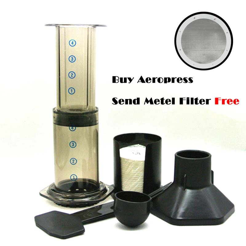 Coffee Maker Metal Filter : Free shipping Best Espresso Portable Coffee Maker Aeropress Coffee Maker Coffee press maker With ...