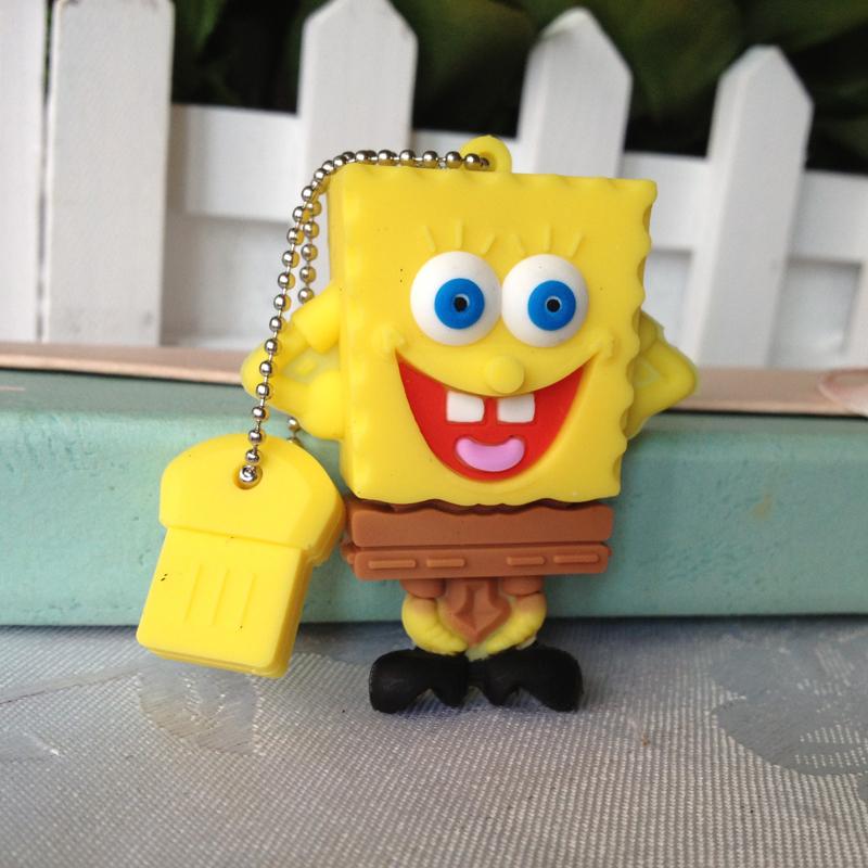 pendrive Sponge Bob gift cartoon 4gb/8gb/16gb/32gb robot flash drive Memory Stick pen drive usb flash drive Free shipping()