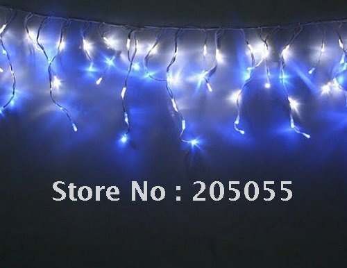 180 LED 6M curtain lights Led icicles lights lamps with tail plug Icicle Lights Xmas Wedding Party Decorations-Blue(China (Mainland))