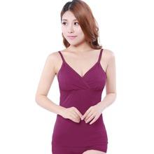 Free Shipping Pregnant women Nursing vest Breastfeeding vest Nursing Bra Tops Maternity Feeding Camis 5 colors(China (Mainland))