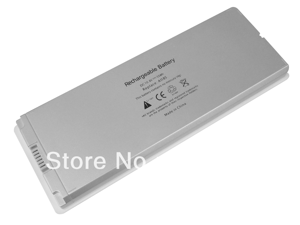 """White 55Wh 6 Cell A1185 Laptop Battery For Apple MacBook 13"""" A1181 MA561 MA561FE/A MA561G/A MA254 MA255CH/A MA699B/A MB061X/A(China (Mainland))"""