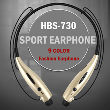 HBS-730 Stereo Bluetooth Headset Wireless Headphone Neckband Style Earphones for iPhone Nokia HTC Samsung LG Bluetooth Cellphone