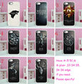 Hot sales 8pcs lots game of throness 1 hard White Skin case cover for iphone 5