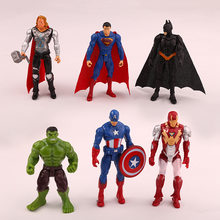 6 pçs/saco Infinito Guerra Marvel Avengers Spiderman Herói Homem de Ferro Capitão América Thor Action Figure Bonecas Brinquedos Presente Do Miúdo Menino(China)