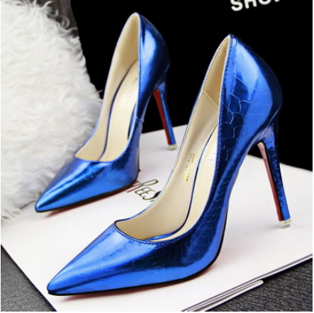 Red Bottom High Heels Brand Pumps Genuine Leather Women Shoes Wedding Shoes Tip Thin Zapatos Mujer Shallow Mouth Ladies Shoes(China (Mainland))