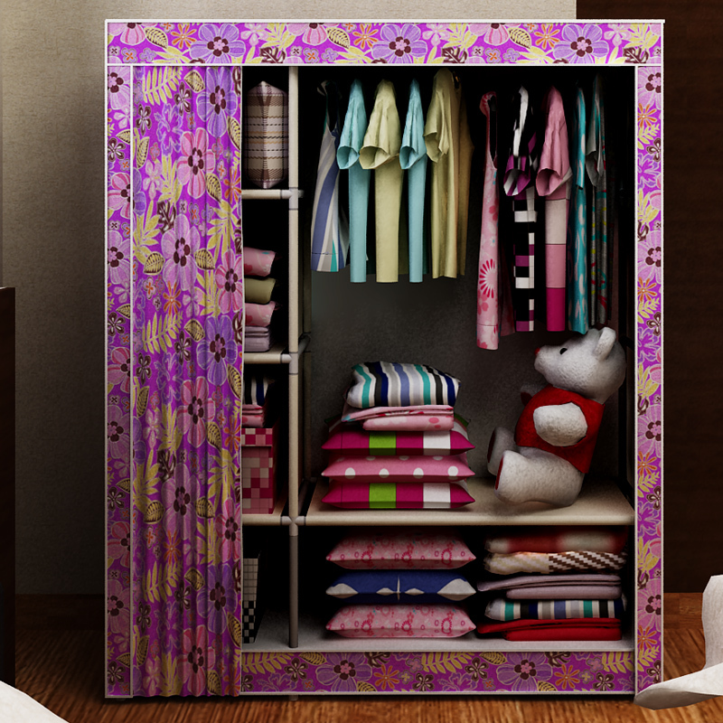 Как сделать из ткани полки в шкафу