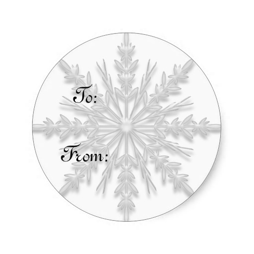 3.8cm White Winter Snowflake Gift Tag Sticker(China (Mainland))