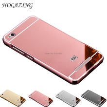 Buy HOLAZING 2 1 Detachable Metal Aluminum Bumper Frame Case Case Xiaomi Redmi 4A Mirror Back Hard Cover for $2.48 in AliExpress store