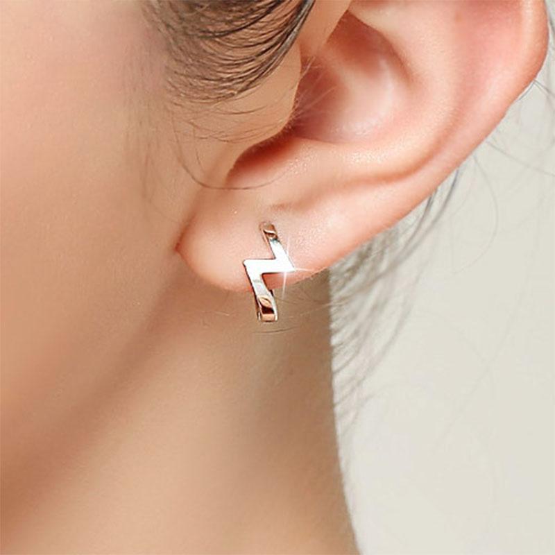 "New Arrivals 2016 Fashion Simple Silver Women Stud Earrings ""Z"" Design Earring For Women Ear Jewelry(China (Mainland))"