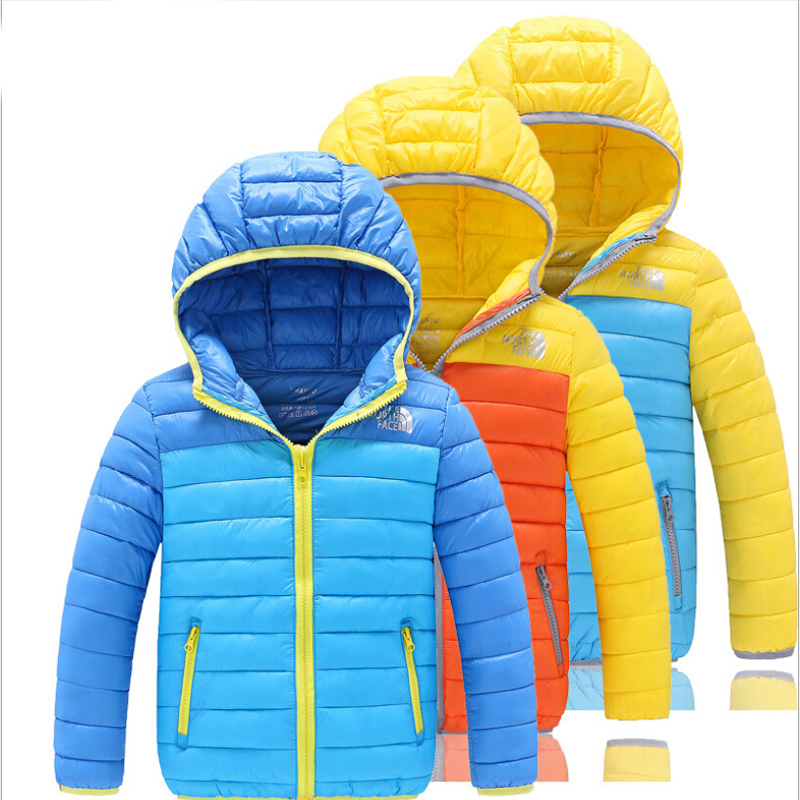 5--12 Years Old Boys Cotton Padded Jacket Hooded Patchwork Zipper Pockets Casual Sports Coat 50 - Yiwu Superfashion Baby E-commerce Business Firm store