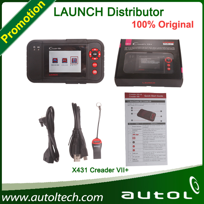 Best and Original LAUNCH X431 Creader VII+ supports all 10 test modes of the OBD Comprehensive OBDII diagnostic tool(China (Mainland))