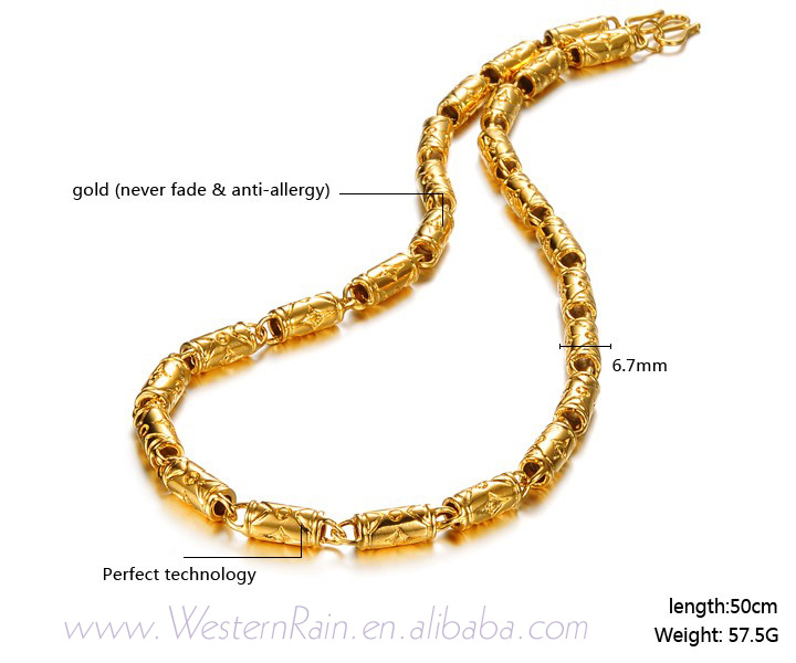 WesternRain 2016 Gold Plated Necklace Chain Copper Alloy Necklace gold jewelry For women/men KX613(China (Mainland))