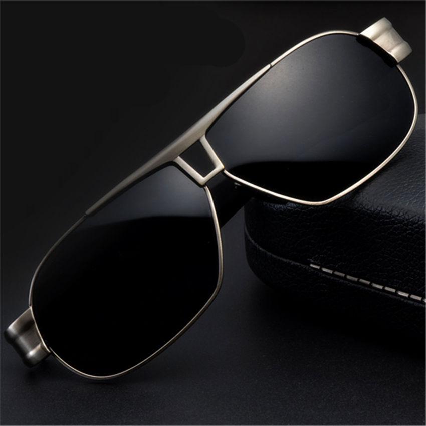 5 Colors Driver Sports Metel Polarized Sunglasses For Mens Womens Brand Designer Big Sun Glasses Discount Male Female Anti-glare(China (Mainland))