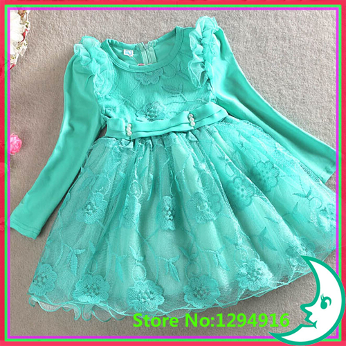2015 New Baby Girls Flower Bubble Dress Birthday Gift Kids Cute Party Clothes Infant Princess Lace Summer - Fashion Zoon No.1 store