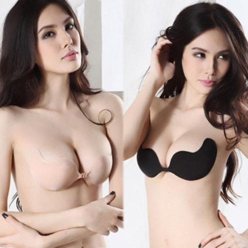 Hot Sale !!! High Quality Sexy woman Self-Adhesive bra Bust Front Closure Silicone Seamless Strapless Bra Invisible Push up bra(China (Mainland))