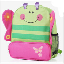 Cute kid school bag cartoon animal canvas backpack zoo backpack Mini School Bags children Backpack mochila boy and girl 91092(China (Mainland))